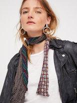 Free People Vintage Silk Short Tie Skinny Scarf