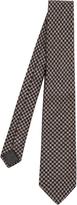 Brunello Cucinelli Hound's-tooth wool and silk-blend tie