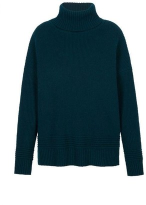 Markus Lupfer Holly Chunky Rib Poloneck Jumper - Green / S