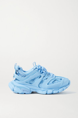 Balenciaga Track Logo-detailed Mesh And Rubber Sneakers - Light blue