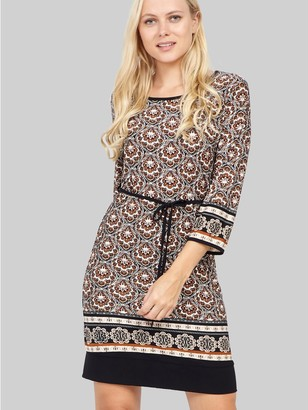 M&Co Izabel eastern print tie waist dress