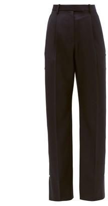 Christopher Kane Press-stud Wool-twill Trousers - Navy