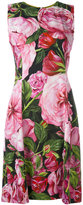 Dolce & Gabbana rose print dress - women - Silk/Spandex/Elastane/Viscose - 44