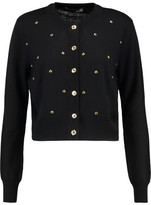 Love Moschino Studded Ribbed-Wool Cardigan