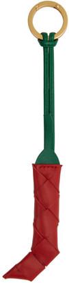 Bottega Veneta Red and Green Intrecciato Pepper Keychain