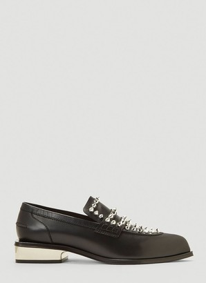 Alexander McQueen Studded Penny Loafers
