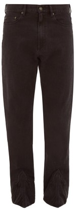 Y/Project Bootstrap Cuff-panel Straight-leg Jeans - Mens - Black