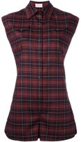 Giamba checked playsuit - women - Spandex/Elastane/Virgin Wool - 38