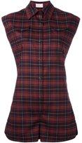 Giamba checked playsuit - women - Spandex/Elastane/Virgin Wool - 42