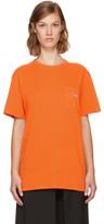 MAISON KITSUNÉ Ssense Exclusive Orange Tricolor Fox Patch Pocket T-shirt