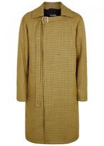 Raf Simons Yellow Houndstooth-jacquard Wool Coat