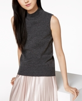 Charter Club Petite Cashmere Mock-Neck Sleeveless Sweater, Created for Macy's