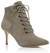 Pour La Victoire Vittoria Suede Pointed Toe High Heel Booties