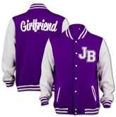 BANG TIDY CLOTHING Women's JB Justin Bieber Fever Girlfriend Inspired College Varsity Jacket