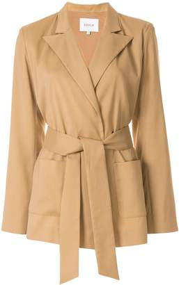 LAYEUR Dench belted wrapover jacket
