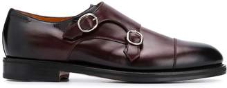 Santoni buckled derby shoes