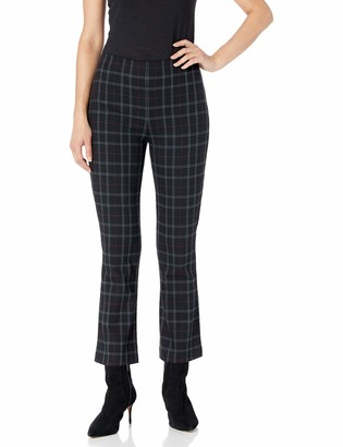 Bailey 44 Women's Marie Plaid Slight Flare Cropped Pant
