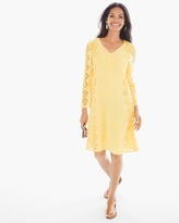 Chico's Side Lace Short Dress in Daffodil