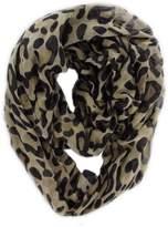 QuStars Women's Leopard Animal Print Infinity Loop Cowl Fashion Scarf