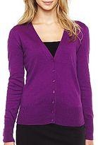 JCPenney Worthington® Long-Sleeve V-Neck Cardigan