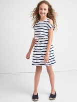 Gap Print cold shoulder dress