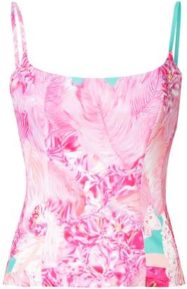 Halpern Printed Fitted Camisole