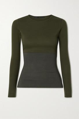 Haider Ackermann Paneled Cotton-blend Top - Dark green