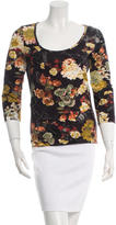 Just Cavalli Long-Sleeve Floral Top