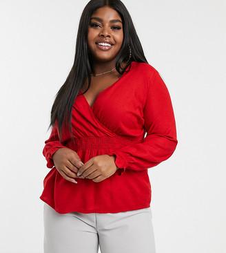 Junarose wrap blouse