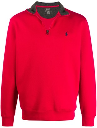 Polo Ralph Lauren Zipped Neck Sweatshirt