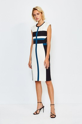 Karen Millen Colour Panelled Shift Dress