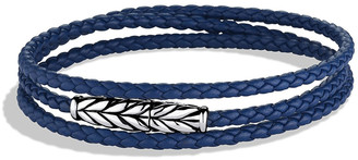 David Yurman Men's Chevron Triple-Wrap Leather Bracelet