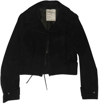 Maison Margiela Black Suede Leather jackets