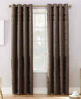 "Sun Zero Elidah Textured Velvet Medallion 50"" x 63"" Energy-Efficient Blackout Grommet Curtain Panel"
