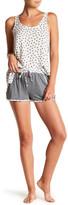 Kensie Knit Print Trim Shorts