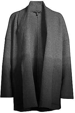 Eileen Fisher Women's Shawl Collar Kimono Wool Jacket