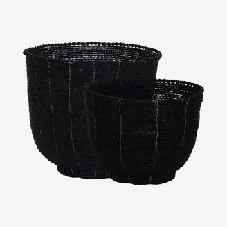 Uma Cantik - Melasti Bead Bowl Black Set Of 2