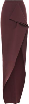 Rick Owens Grace Split-front Draped Stretch-knit Maxi Skirt