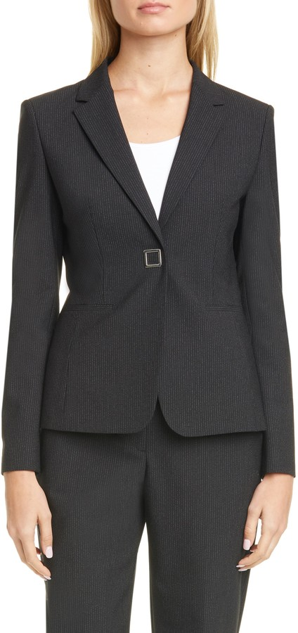 BOSS Julea Pinstripe Suit Jacket