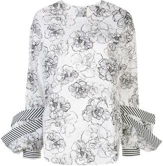 Silvia Tcherassi Jessica oversized cuffs blouse