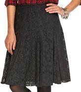 Chaps Women's Gored Lace Skirt