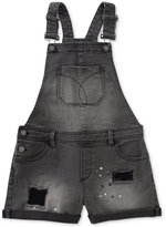 Calvin Klein Denim Overall Shorts, Big Girls (7-16)