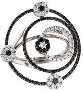 Roberto Coin 18K Black & White Diamond Cocktail Ring