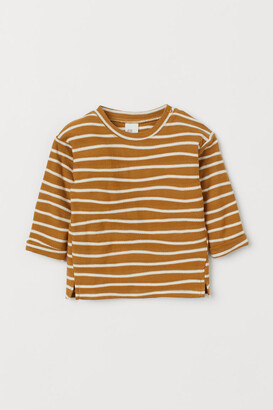 H&M Striped cotton jersey top