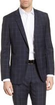 BOSS Huge Trim Fit Plaid Wool Sport Coat