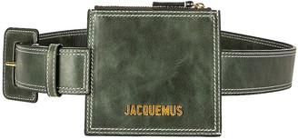 Jacquemus La Ceinture Porte Monnaie Belt Pouch in Green   FWRD