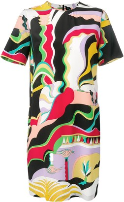 Emilio Pucci La Villa Print Silk Mini Dress