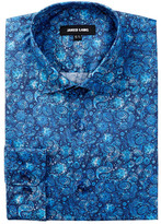Jared Lang Long Sleeve Floral Print Dress Shirt