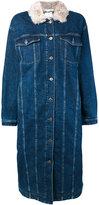 Stella McCartney long oversized denim coat - women - Cotton/Polyester/Spandex/Elastane - 38