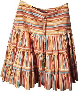 Tommy Hilfiger Orange Cotton Skirt for Women
